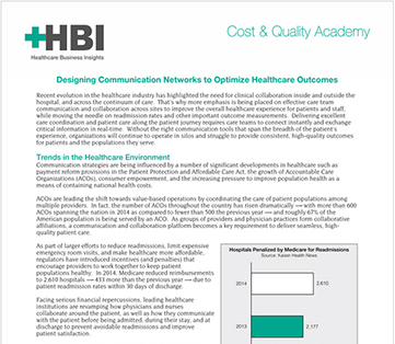 HBI Report: Integrated Communication Strategy Critical to Care Coordination