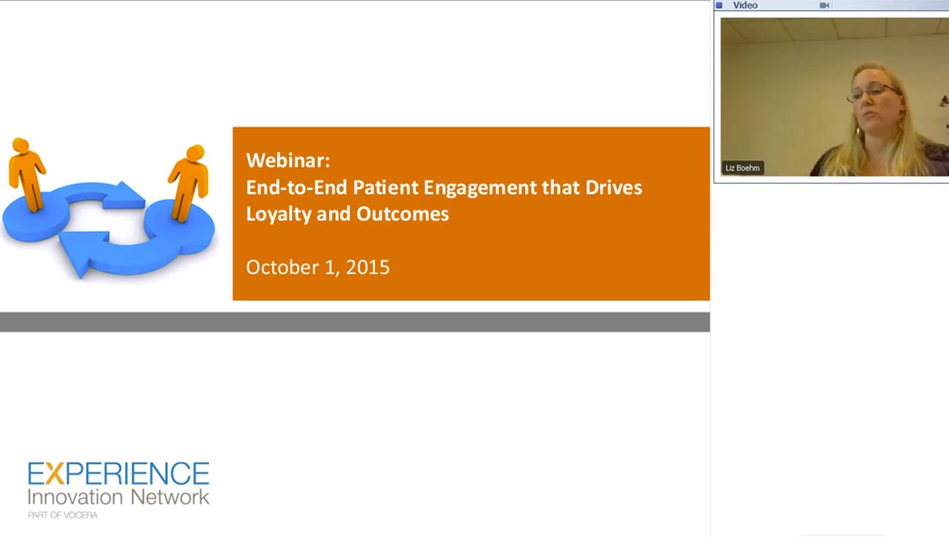 patient engagement webinar