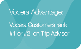Vocera Advantage: Vocera Customers Rank #1 or #2 on Trip Advisor