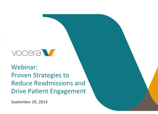 Webinar: Proven Strategies to Reduce Readmissions and Drive Patient Engagement