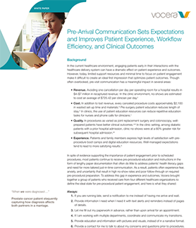 Pre-Arrival Communication Sets Expectations and Improves Patient Experience, Workflow, and Clinical Outcomes